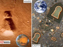 keyhole-shaped formation on mars