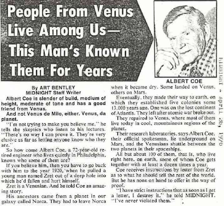 aliens from Venus