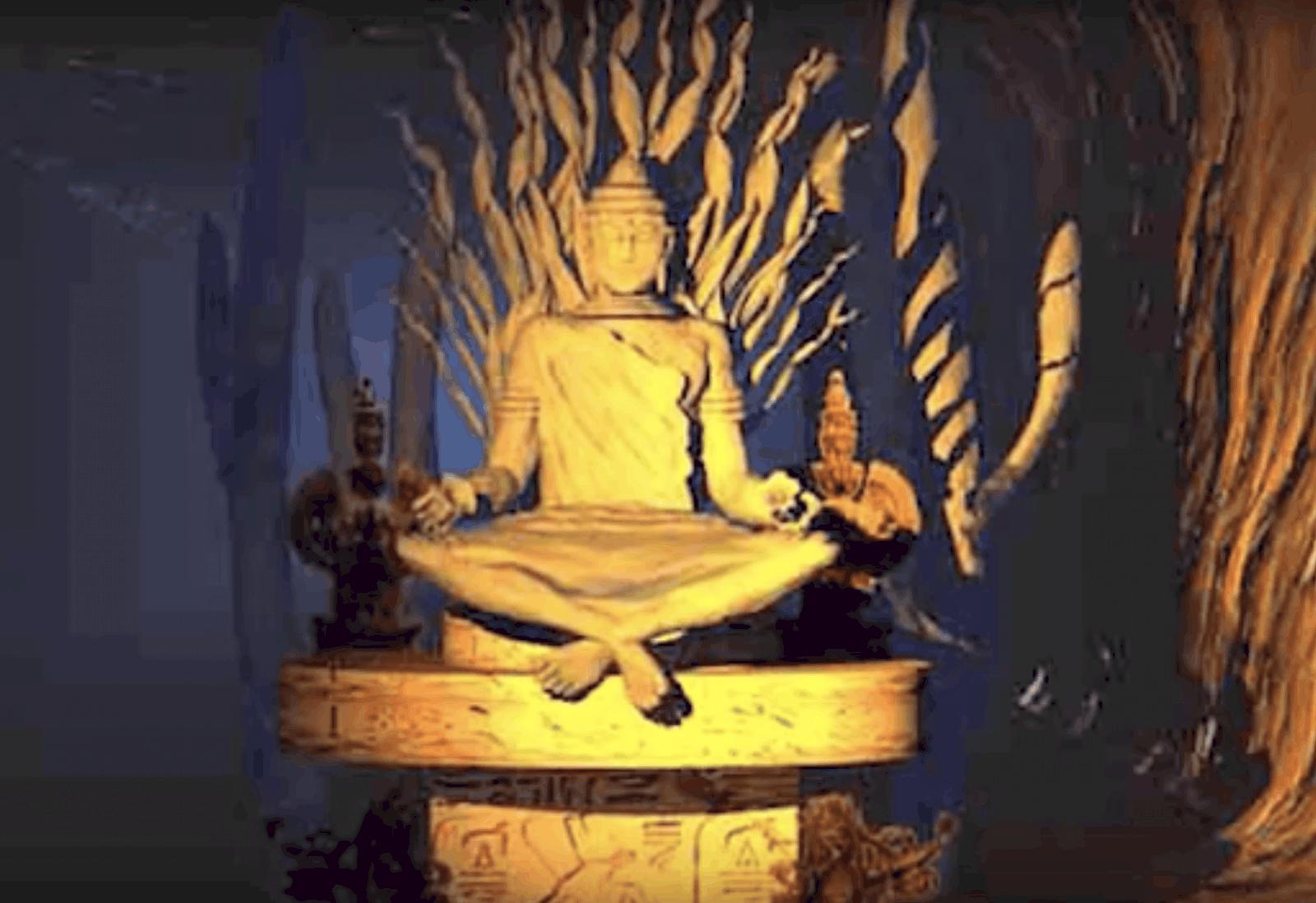 Buddha in grand canyon